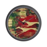 Red/Gold Greyts Wall Clock