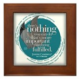 """Being Fulfilled"" Framed Tile"