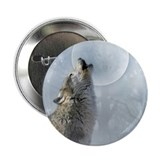 "Wolf Blue Moon 2.25"" Button (10 pack)"