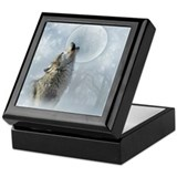 Wolf Blue Moon Keepsake Box