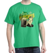 Drink Up Bitches Irish Dark T-Shirt
