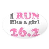 I Run Like a Girl 26.2 Decal