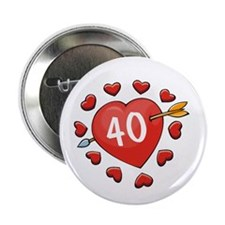 40th Valentine Button