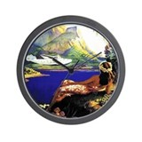 'Fly To South Sea Isles' Wall Clock