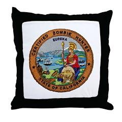 Certified Zombie Hunter Throw Pillow