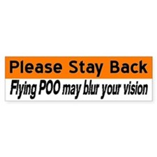 Flying poo (horse trailer sticker- orange/white)