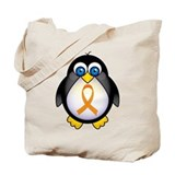 Penguin Orange Ribbon Awareness Tote Bag