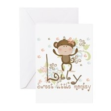 Lily Sweet lil monkey Greeting Cards (Pk of 10)