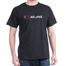 I Love melanie Black T-Shirt