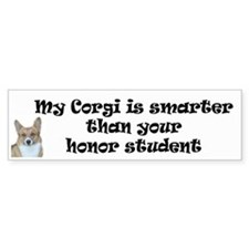 Corgi Honor Student Bumper Bumper Sticker