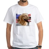 GOLDEN RETRIEVER & FLAG US Shirt