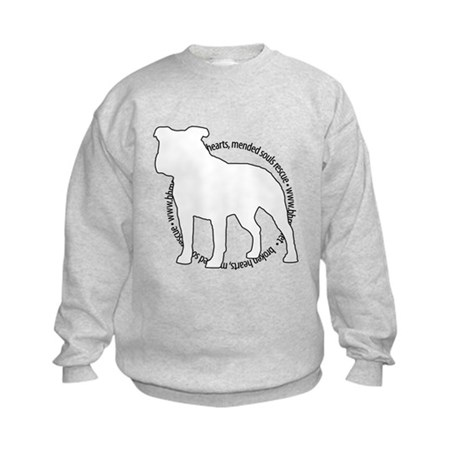 Staffy Outline (BK) - Kids Sweatshirt
