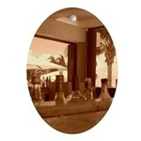 Beach Bar Ornament (Oval)