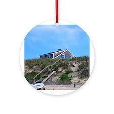 Cape Cod Beach House Ornament (Round)