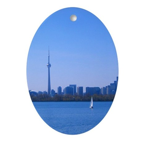 Toronto Summer Skyline Ornament (Oval)