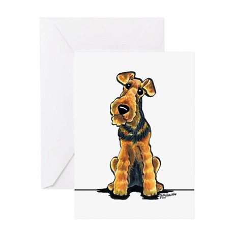 Airedale Welsh Terrier Greeting Card