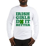Cute Kiss me i'm irish Long Sleeve T-Shirt
