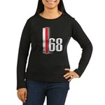 68 Red White Women's Long Sleeve Dark T-Shirt
