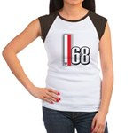 68 Red White Women's Cap Sleeve T-Shirt