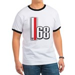 68 Red White Ringer T