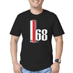 68 Red White Men's Fitted T-Shirt (dark)