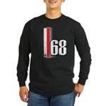 68 Red White Long Sleeve Dark T-Shirt