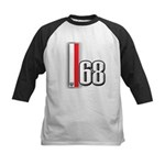 68 Red White Kids Baseball Jersey