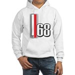 68 Red White Hooded Sweatshirt