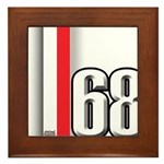 68 Red White Framed Tile