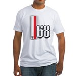 68 Red White Fitted T-Shirt