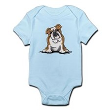 Brown White Bulldog Infant Bodysuit