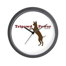 Tripawd Power Wall Clock
