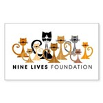 Nine Lives Foundation Logo Sticker (Rectangle)
