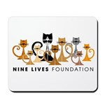 Nine Lives Foundation Logo Mousepad