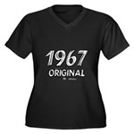 Mustang 1967 Women's Plus Size V-Neck Dark T-Shirt
