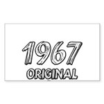 Mustang 1967 Sticker (Rectangle)