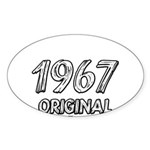 Mustang 1967 Sticker (Oval 50 pk)