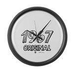 Mustang 1967 Large Wall Clock