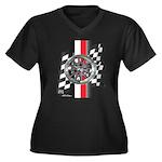 Street Racer MAGG Women's Plus Size V-Neck Dark T-