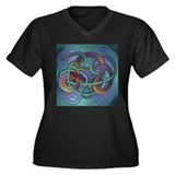 Celtic Dragon Women's Plus Size V-Neck Dark T-Shir
