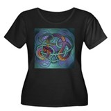 Celtic Dragon Women's Plus Size Scoop Neck Dark T-