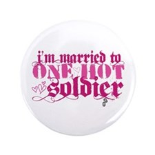"I'm married to ... [pink] 3.5"" Button"