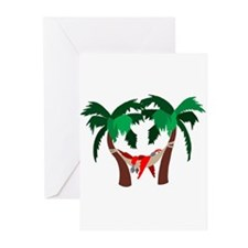 Macaw in Palms Greeting Cards (Pk of 10)