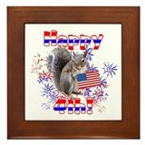 4th of July Framed Tile