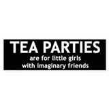 Tea Parties Car Sticker