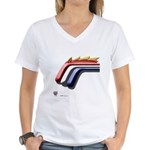 Mustang Horse Women's V-Neck T-Shirt