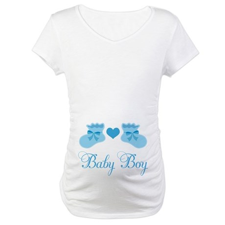 Baby Boy Booties Maternity T-Shirt