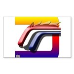 Mustang Horse Fire Sticker (Rectangle 50 pk)