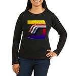 Mustang Horse Fire Women's Long Sleeve Dark T-Shir