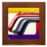 Mustang Horse Fire Framed Tile
